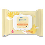 Johnson & Johnson Hand and Body Wipes, Travel Pack, 1-Ply, Nonwoven Fiber, 7.3 x 7.5, 25 Wipes/Pack Product Image