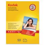 Kodak Premium Photo Paper, 8.5 mil, 8.5 x 11, Glossy White, 50/Pack Product Image