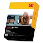Kodak Photo Paper, 8 mil, 4 x 6, Glossy White, 100/Pack Product Image