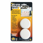 """Master Caster Mighty Movers Self-Stick Furniture Sliders, Round, 2.25"""" Diameter, Beige, 4/Pack Product Image"""