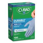 Curad Powder-Free Nitrile Exam Gloves, One Size, Blue, 100/Box Product Image