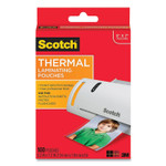 """Scotch Laminating Pouches, 5 mil, 5"""" x 7"""", Clear, 100/Pack Product Image"""