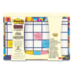 Post-it Weekly Planner with Post-it Super Sticky Notes, 18 x 12, Undated Product Image
