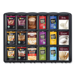 Mars Flavia Merchandiser, For FLAVIA Freshpacks, 6 Compartments, 21.25 x 17 x 16.5, Black Product Image