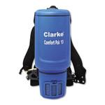 "Clarke Comfort Pak 10 Quart Backpack Vacuum., 11.5"" Cleaning Path, Blue Product Image"