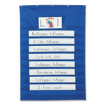 Pacon Standard Pocket Chart, 10 Pockets, 34 x 50, Blue Product Image