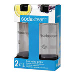SodaStream Carbonating Bottle Twin Pack, Plastic, 33 oz, Black/Clear Product Image