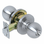Tell Heavy Duty Commercial Privacy Knob Lockset, Stainless Steel Finish Product Image