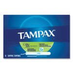 Tampax Cardboard Applicator Tampons, Super, 10/Box Product Image