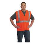 PIP ANSI Class 2 Hook and Loop Safety Vest, Hi-Viz Orange, Large Product Image