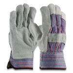 PIP Shoulder Split Cowhide Leather Palm Gloves, B/C Grade, Large, Blue/Gray, 12 Pairs Product Image