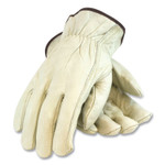 PIP Economy Grade Top-Grain Cowhide Leather Drivers Gloves, Medium, Tan Product Image