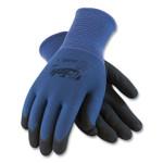 G-Tek GP Nitrile-Coated Nylon Gloves, Medium, Blue/Black, 12 Pairs Product Image