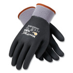 MaxiFlex Ultimate Seamless Knit Nylon Gloves, Nitrile Coated MicroFoam Grip on Full Hand, Large, Gray, 12 Pairs Product Image