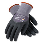 MaxiFlex Ultimate Seamless Knit Nylon Gloves, Nitrile Coated MicroFoam Grip on Palm, Fingers and Knuckles, Small, Gray, 12 Pairs Product Image