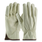 PIP Top-Grain Pigskin Leather Drivers Gloves, Economy Grade, Large, Gray Product Image