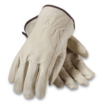 PIP Top-Grain Pigskin Leather Drivers Gloves, Economy Grade, Medium, Gray Product Image