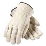PIP Top-Grain Pigskin Leather Drivers Gloves, Economy Grade, X-Large, Gray Product Image