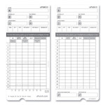uPunch HNTCL2050 Time Cards, Monthly, Two-Sided, 7.37 x 3.37, 50/Pack Product Image
