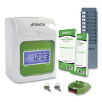 uPunch HN1500 Electronic Non-Calculating Time Clock Bundle, Beige/Green Product Image