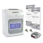 uPunch HN2500 Electronic Calculating Time Clock Bundle, Beige/Gray Product Image