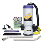 ProTeam Super CoachVac Backpack Vacuum with Xover Fixed-Length Two-Piece Wand, 10 qt, Gray/Purple Product Image