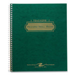Roaring Spring Teacher's Record Roll Book, 11 x 8.5, Green/Gold Product Image