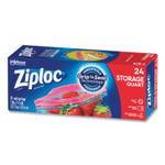"Ziploc Seal Top Bags, 1 qt, 7.44"" x 7"", Clear, 24/Box Product Image"