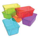 """Storex Cubby Bins, 7.8"""" x 12.2"""" x 5.1"""", Assorted Candy Colors, 5/Carton Product Image"""