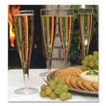 Tablemate Plastic Champagne Glasses, 5 oz, Clear, 10/Pack Product Image
