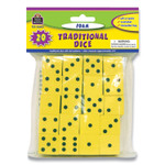 """Teacher Created Resources Traditional Foam Dice, Six Sides, 0.75"""" Square, 20/Pack Product Image"""