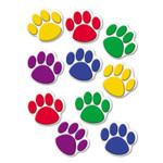 Teacher Created Resources Paw Print Accents, Assorted Colors Product Image
