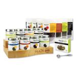 Teaja Organic Loose-Leaf Tea Office-Experience Kit with Hardwood Display, (8) Assorted Varieties, 1.76 oz Packages, 8/Kit Product Image