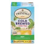 TWININGS Cold Brew Iced Tea Bags, Mint, 0.07 oz Tea Bag, 20/Box Product Image