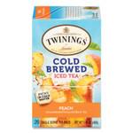 TWININGS Cold Brew Iced Tea Bags, Peach, 0.07 oz Tea Bag, 20/Box Product Image