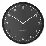 """Union & Scale Essentials Contemporary Round Wall Clock, 15"""" Overall Diameter, Black Case, 1 AA (Sold Separately) Product Image"""