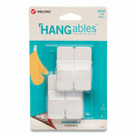 VELCRO Brand HANGables Removable Wall Hooks, Small, 1 lb Capacity, White, 4 Hooks and 4 Fasteners Product Image