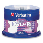 Verbatim DVD+R Disc, 4.7 GB, 16x, Spindle, White, 50/Pack Product Image