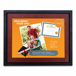 Victory Light Tu-Tone Poster Frame with Mat, Glass/Wood, 8.5 x 11 Insert, Black/Mahogany Product Image