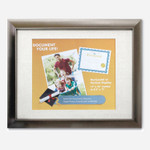 Victory Light Document and Photo Frame with Linen Mat, Plastic, 8.5 x 11 Insert, Bronze Product Image