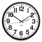 """Victory Light Tempus Wall Clock, 11.8"""" Overall Diameter, Black Case, 1 AA (sold separately) Product Image"""