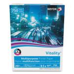 xerox Vitality Multipurpose Print Paper, 92 Bright, 20 lb, 8.5 x 11, White, 750 Sheets/Ream Product Image