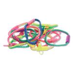 Zorbitz Fidget Zipper Bracelets, Assorted Colors, 12/Pack Product Image