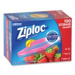 "Ziploc Seal Top Bags, 1 qt, 7.44"" x 7"", Clear, 100/Box Product Image"