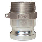 Dixon Valve Global Type F Adapters, 3/4 in, Male/Male, Aluminum Product Image