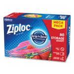 "Ziploc Seal Top Bags, 1 qt, 7.44"" x 7"", Clear, 80/Box Product Image"