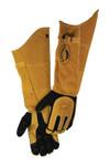 Caiman 1878 21-in FR Insulated MIG/Stick Welding Gloves, Deerskin/Boarhide, Tan/Black Product Image