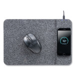 Allsop Powertrack Wireless Charging Mouse Pad, 13 x 8.75 x 0.25, Gray Product Image