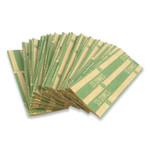 CONTROLTEK Flat Tubular Coin Wrap, Dimes, $5.00, Green, 1,000/Box Product Image