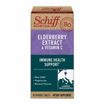 Schiff Elderberry Extract and Vitamin C Chewable Tablets, 60 Count Product Image